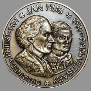 Huss un ML 2001_Jan_Hus_Obverse_detail