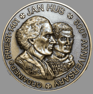 Huss un ML 2001_Jan_Hus_Obverse_detail